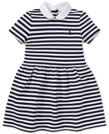 Little Girls Striped Fit & Flare Dress