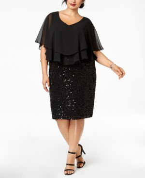 Alex Evenings Plus Size Ruffled Popover Dress 6731127