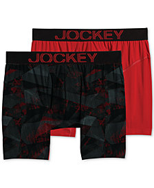 Jockey Men's 2-Pk. RapidCool™ Boxer Briefs