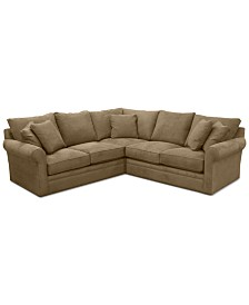 """Doss II 3-Pc. Fabric """"L"""" Loveseat Sectional"""