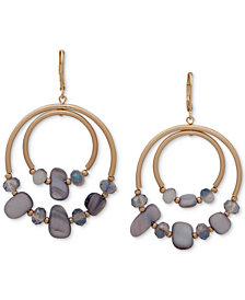 lonna & lilly Gold-Tone & Stone Orbital Drop Hoop Earrings