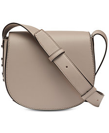 DKNY Bedford Mastrotto Leather Saddle Crossbody, Created for Macy's