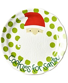 North Pole Curved Cookies for Santa Face Salad Plate