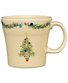 Fiesta Christmas Tree Tapered Mug with Holiday Tree & Swag