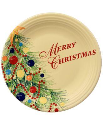Christmas Tree Merry Christmas Plate