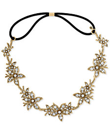 RACHEL Rachel Roy Gold-Tone Crystal Flower Headband