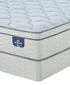 "Serta Sertapedic 12.75"" Doldfield Firm EuroTop Mattress Set- Queen Split"