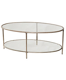 Corbin Coffee Table with Top Glass Shelf