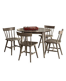 Mayson 5- Piece Dining Set with Spindle Back Chairs