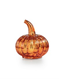 "Harvest 5"" Mercury Glass Pumpkin with LED Lights, Created for Macy's"