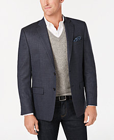 Lauren Ralph Lauren Men's Classic/Regular Fit UltraFlex Blue Mini Check Wool Sport Coat