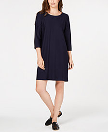 Eileen Fisher 3/4-Sleeve Dress