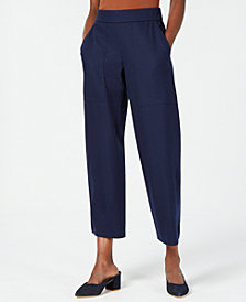 Eileen Fisher Pull-On Cropped Ankle Pants, Regular & Petite