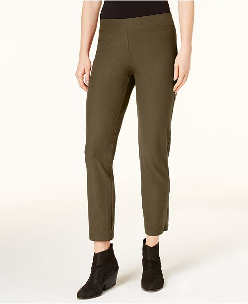 Eileen Fisher Washable Crepe Slim Leg Ankle Pants Regular Petite