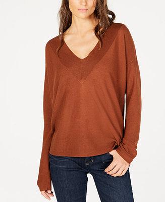 Eileen Fisher Tencel® V-Neck Sweater, Regular & Petite