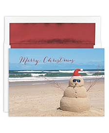 Beach Snowman Boxed Cards
