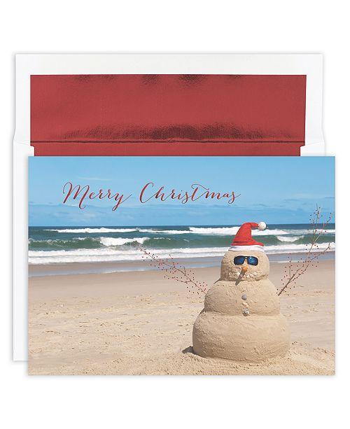 Masterpiece Studios Beach Snowman Boxed Cards