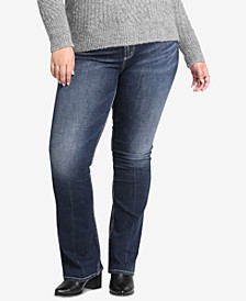 Size Avery High-Rise Curvy-Fit Boot-Cut Jeans