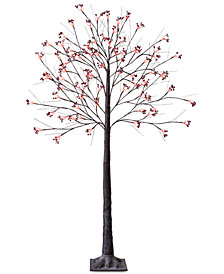 Mr. Christmas 5' Snow Tree with Red Berries