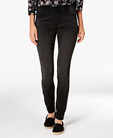Style & Co Petite Pull-On Skinny Ankle Jeans, Created for Macy's