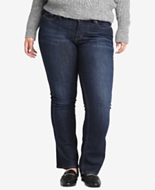 Silver Jeans Co. Plus Size Suki Curvy-Fit Boot-Cut Jeans