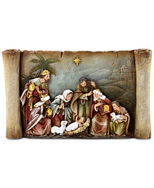 Napco Nativity Scroll Figurine