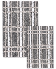 LAST ACT! Cascada Home Cher 2-Pc. Plaid Bath Rug Set