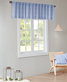 "Brooklyn 50"" x 18"" Cotton Jacquard Pom Pom Rod Pocket/Back Tab Window Valance"
