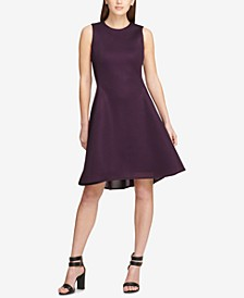 Mesh Seamed Fit & Flare Dress, Created for Macy's