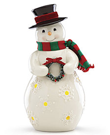 Lenox Merry & Light Lit Snowman Figurine