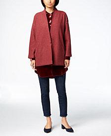 Eileen Fisher Kimono Jacket, Shirt & Skinny Jeans