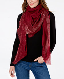 I.N.C. Ombré Metallic Foil Oversized Square Scarf, Created for Macy's