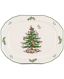 "Spode Christmas Tree 14"" Oval Platter"