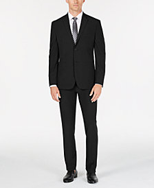 Perry Ellis Men's Tech + Slim-Fit Stretch Easy-Care Solid Suit