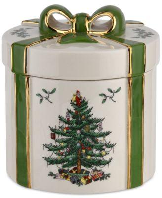 Christmas Tree Figural Gift Box - Green