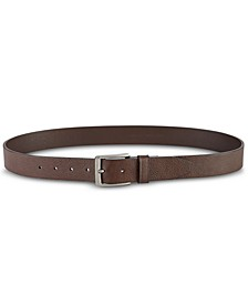 Men's Casual Pebble Leather Belt