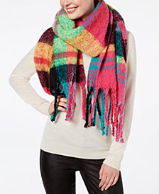 Betsey Johnson Color Me Plaid Blanket Scarf & Wrap
