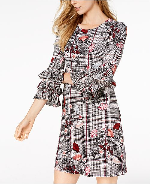 Floral Play Dress A Alfani Sleeve Macy's Created Tiered Line for qxROwva
