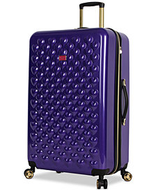 "Betsey Johnson Heart To Heart 30"" Hardside Expandable Spinner Suitcase"