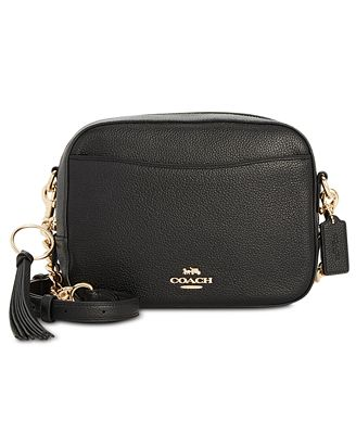 Coach Camera Bag In Polished Pebble Leather Handbags Accessories