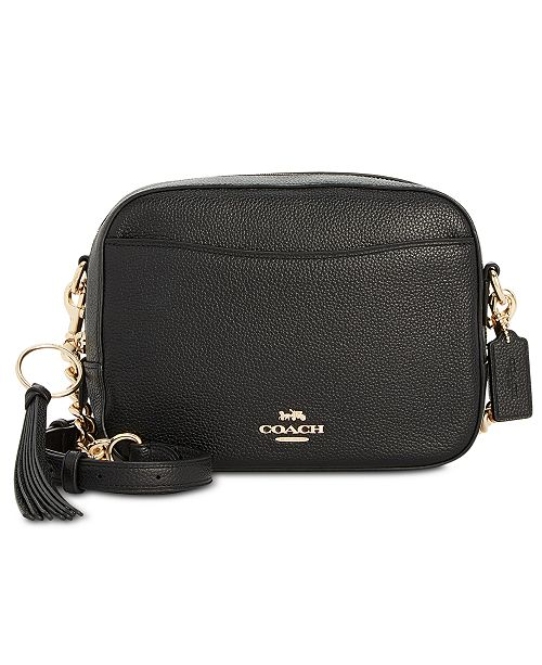 COACH Camera Bag in Polished Pebble Leather