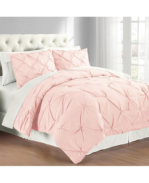 Cathay Home Inc. Premium Collection Full/Queen Pintuck Bedding Comforter Set