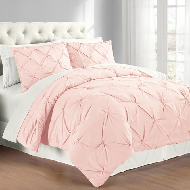 Cathay Home Inc. Premium Collection 	King Pintuck Bedding Comforter Set