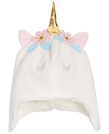 First Impressions Baby Girls Flower Unicorn Hat, Created for Macy's
