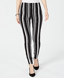 INC Pull-On Striped Skinny Pants, Created for Macy's