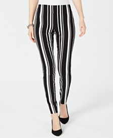 I.N.C. Petite Pull-On Striped Pants, Created for Macy's