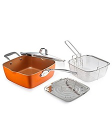 """9.5"""" Deep Square Pan with Lid"""
