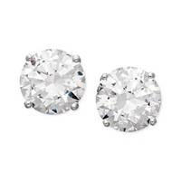 Arabella 14k White Gold Earrings