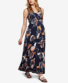 Maternity V-Neck Maxi Dress
