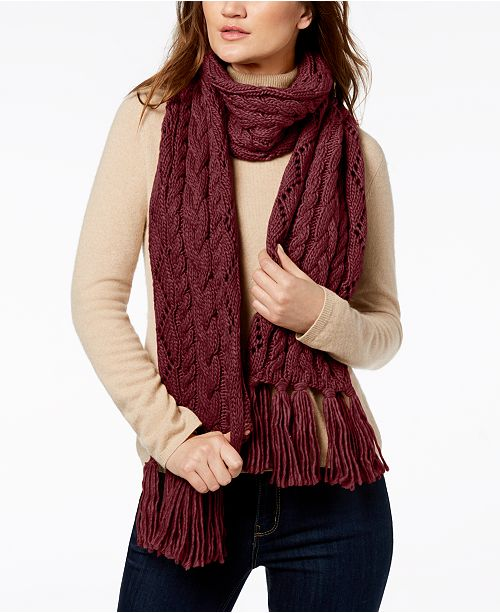5b3b897d7b Michael Kors Pointelle Cable-Knit Scarf   Reviews - Handbags ...